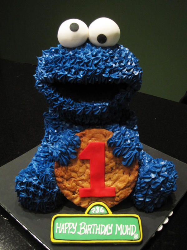 Cookie Monster Cake by Sliceofcake on DeviantArt
