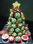 Christmas Tree Cupcake Tower