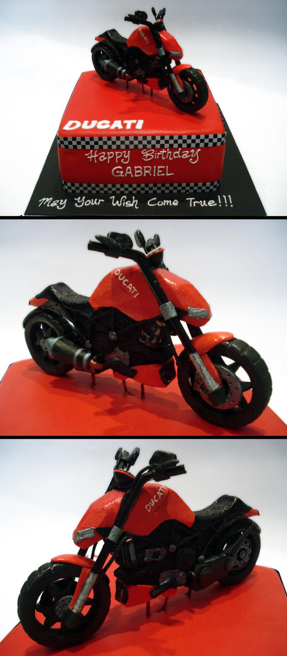 Ducati Bike Cake by Sliceofcake