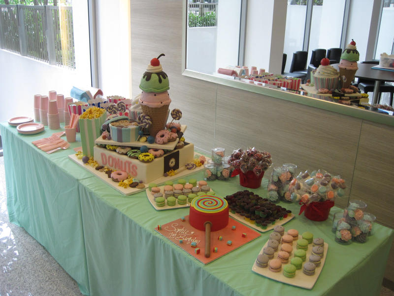 Candy Bar Dessert Table by Sliceofcake