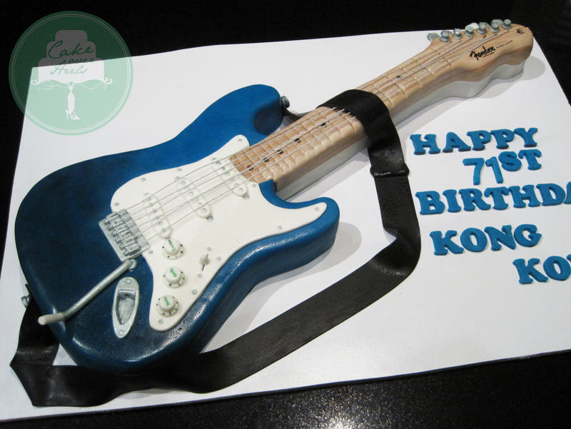 Fender Electric Guitar (Cake) by Sliceofcake