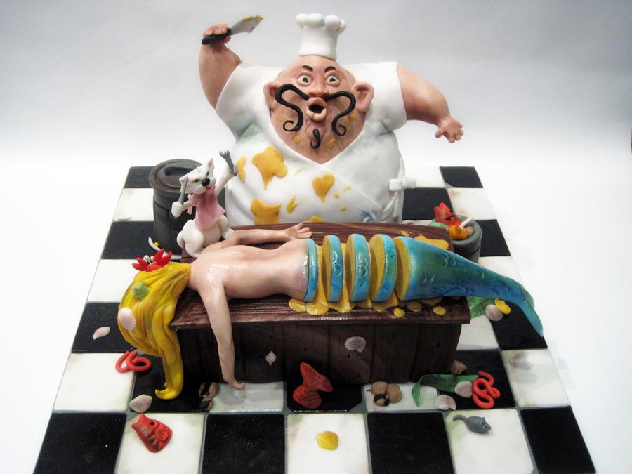 Mermaid, It's What's For Dinner (threadcakes 2012) by Sliceofcake