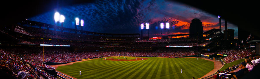 Busch Stadium panorama by ukhan50699
