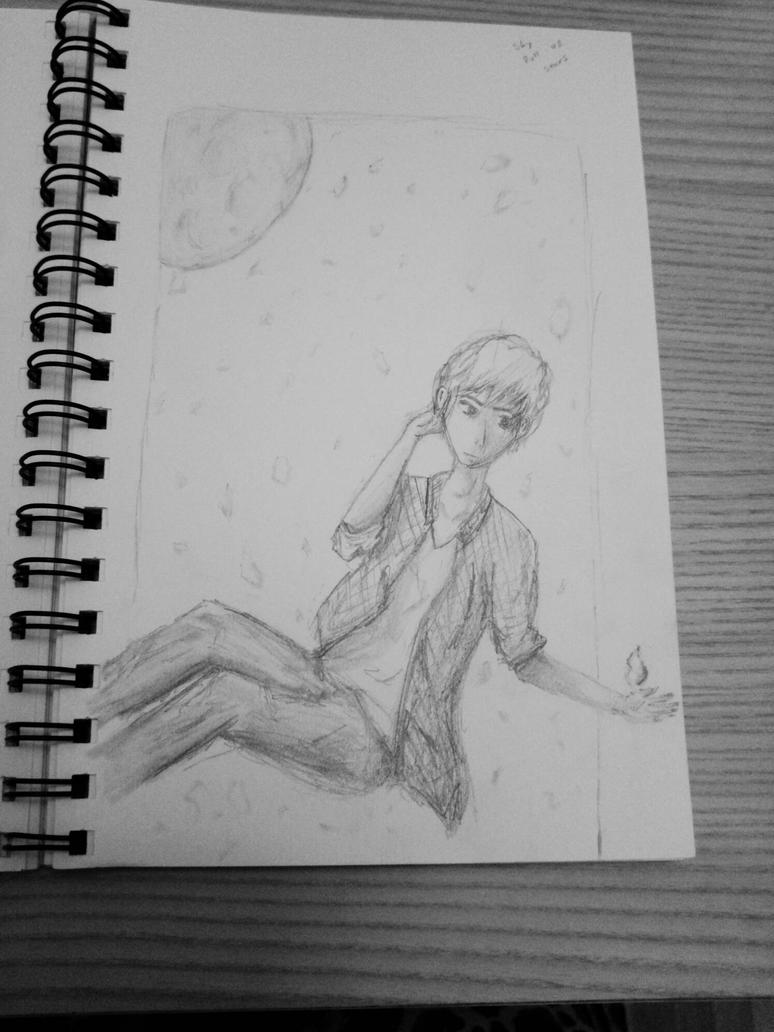 sky full of stars sketch by Rigby-ejy