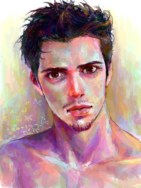 colorful man by ahobaga