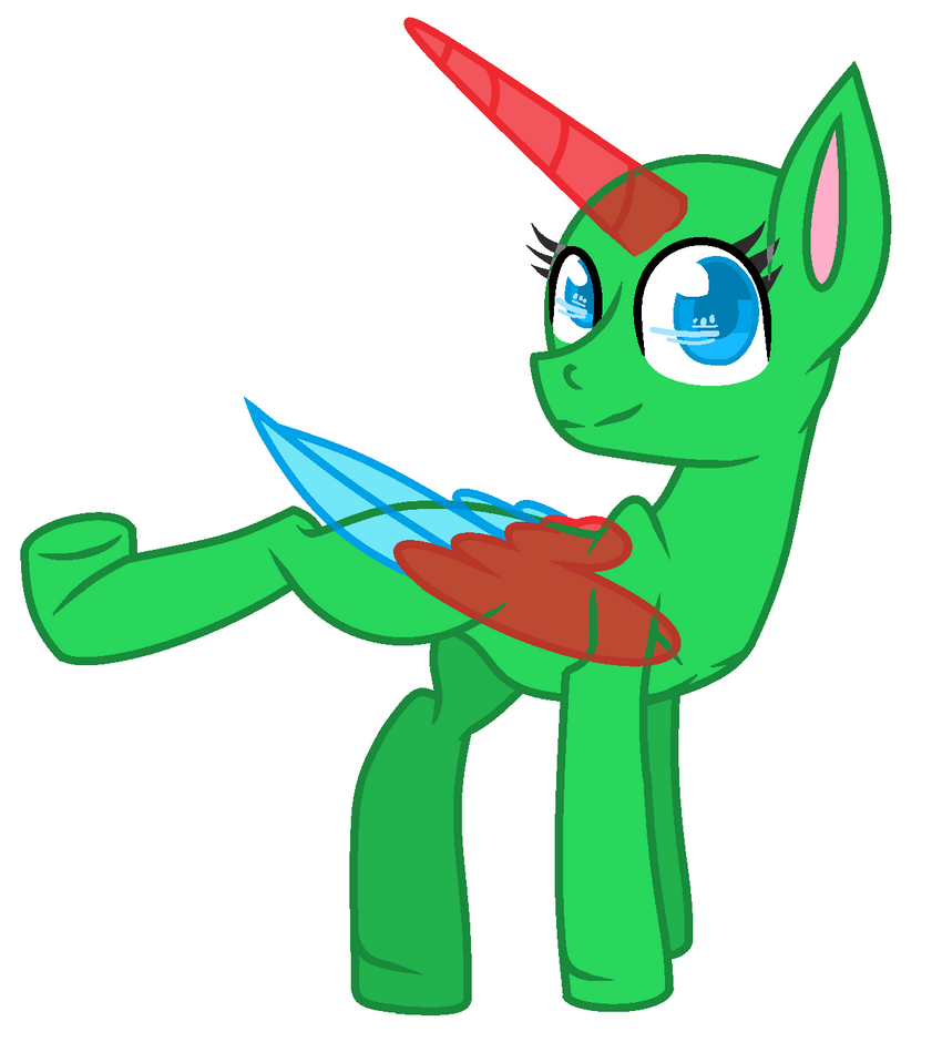 MLP Base- My Style(MS Paint Friendly) By Hovesoffire48 On