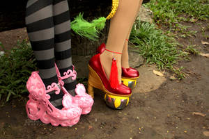 Freaky Fabulous Shoes by dukesawolf