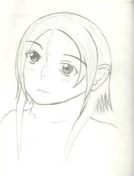 random girl....'bored drawing'