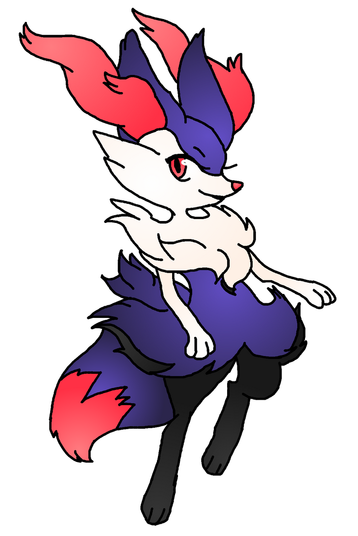 Shiny Braixen Shiny braixen by pokegirl76