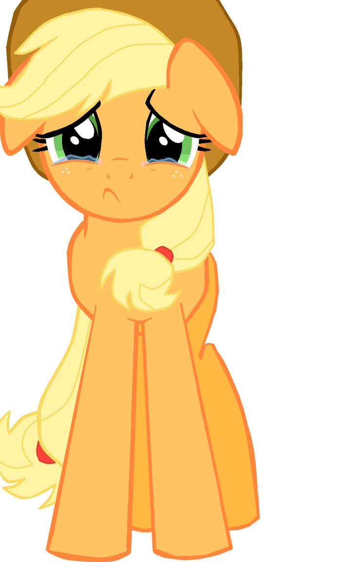 Applejack Sad - Full by Elliums