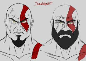 Kratos Doodle by Jeddy017-VZ