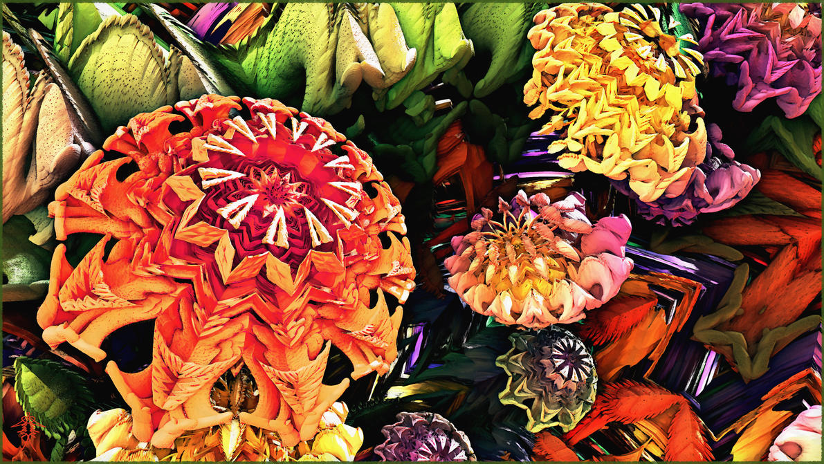 A Profusion of Poppies or Zinnias? by audre