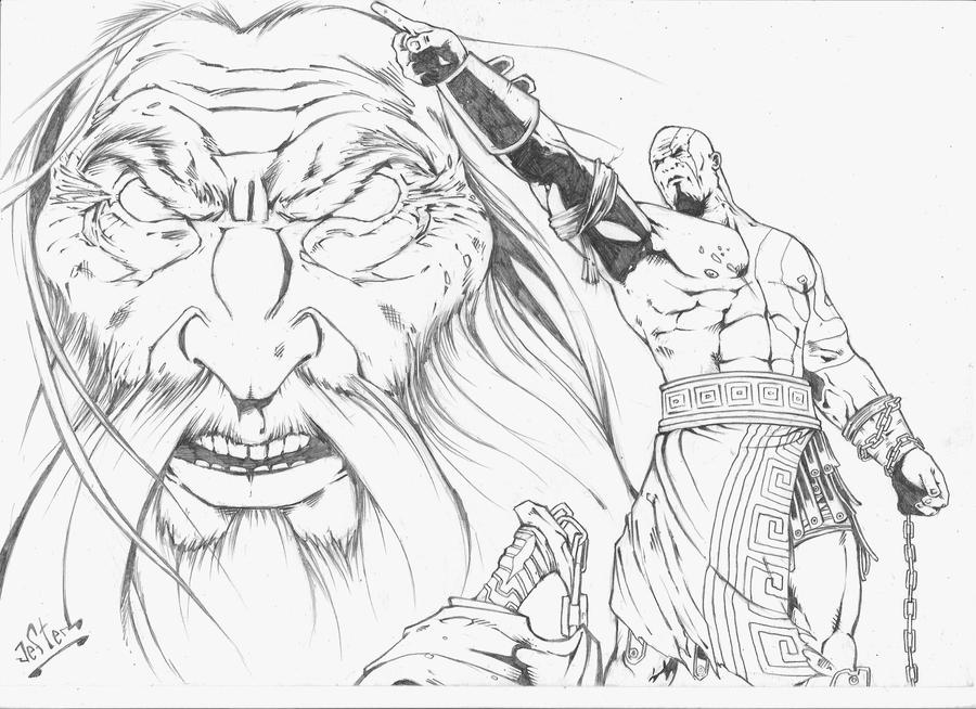Line Drawing Of Zeus : Pin kratos sta per tornare on pinterest