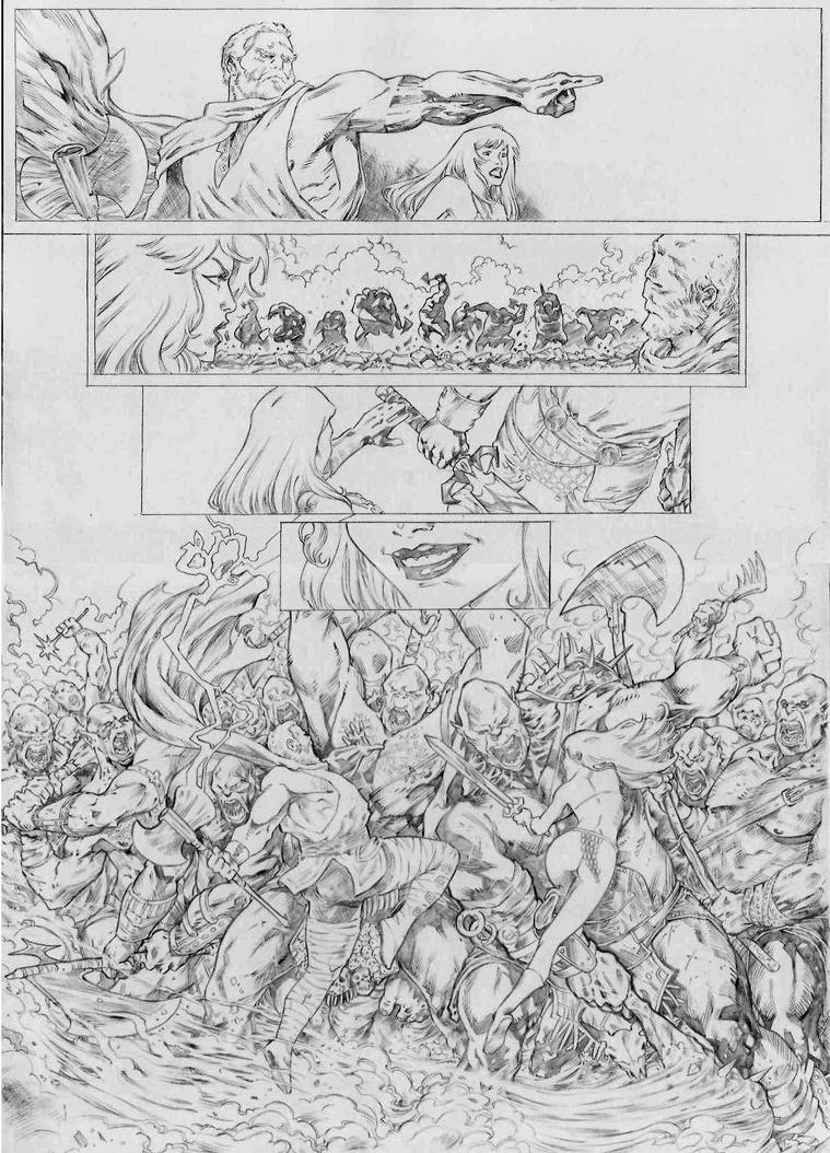 sample page 03 thor and sonja pencil by jefterleite