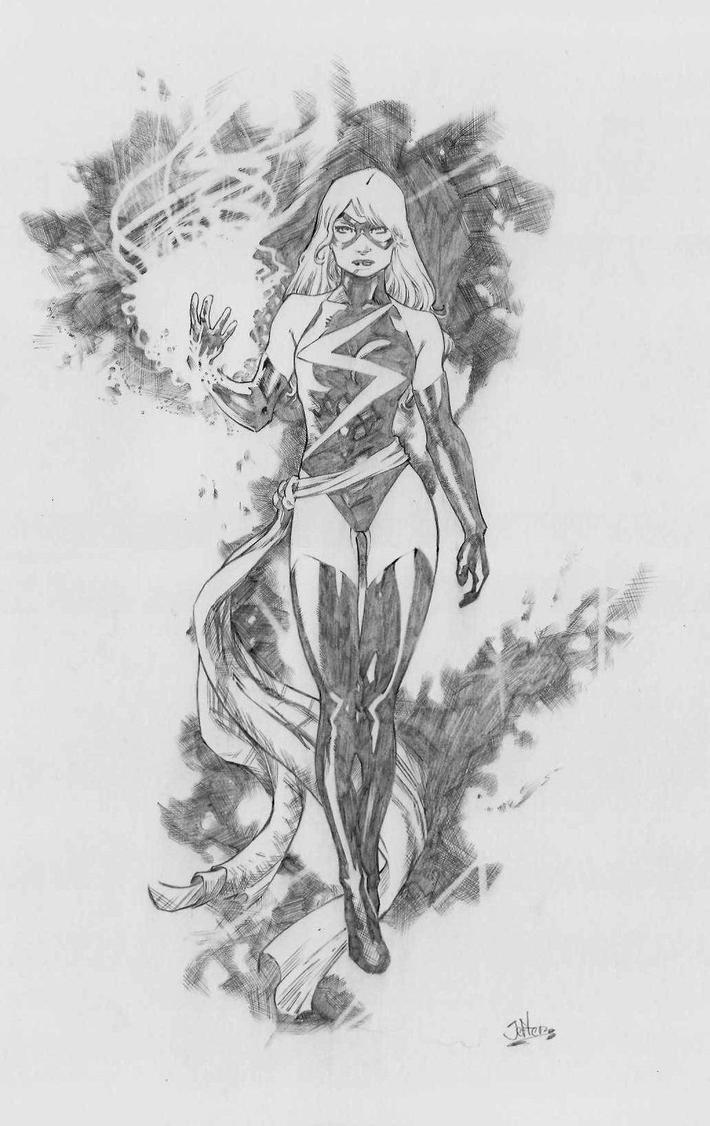 Miss MARVEL pencil by jefterleite