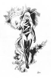 Miss Marvel ink by jefterleite