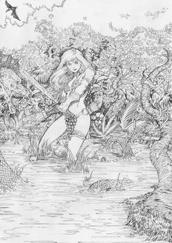 Red Sonja pencil