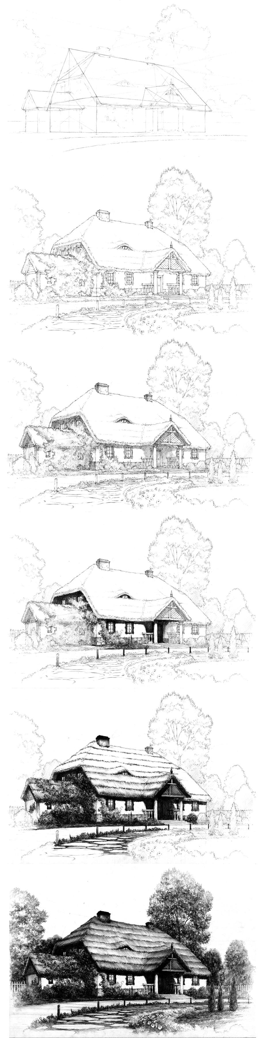 Old house tutorial by lustrzany on deviantart for Classic house tutorial