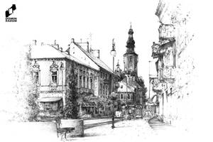 Radom, main street by lustrzany