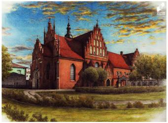 Church and monastery of bernardines in Radom by lustrzany