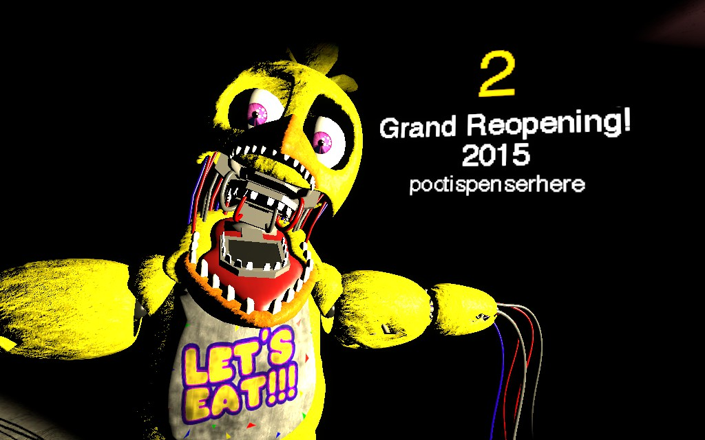Fan made fnaf 2 teaser chica version by andydatraginpyro on