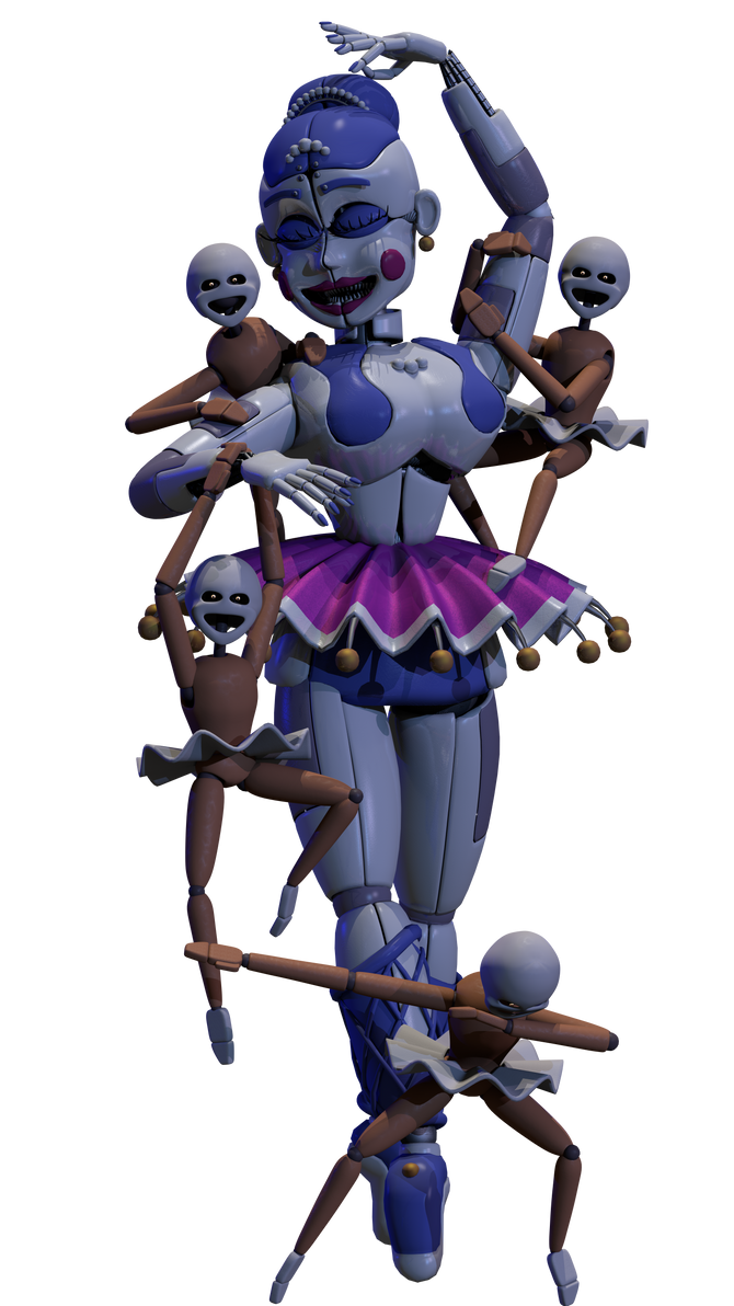 Ballora And The Minireenas By Andydatraginpurro On Deviantart