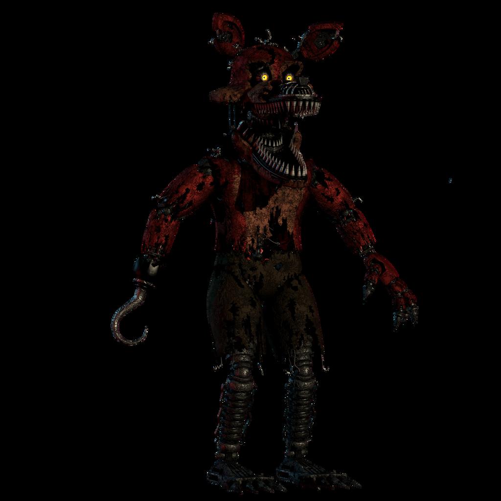 FNAF 4 Enhanced Hector MKG Nightmare Foxy By AndyPurro On