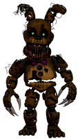 Enhanced Nightmare Springbonnie by AbsentedTangent by AndyPurro