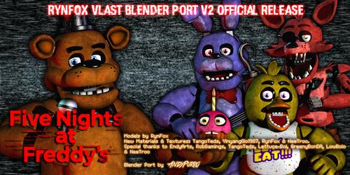 FNAF 1 Rynfox Vlast Official Blender Port V2