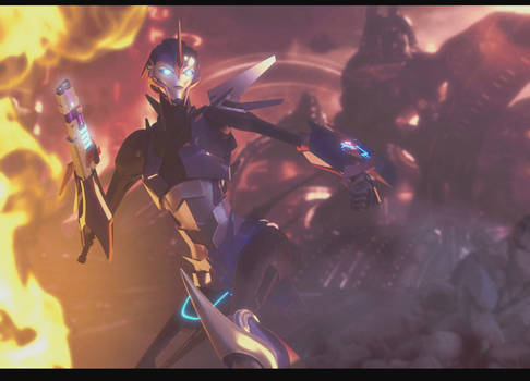 [TFP Blender] Arcee in the heat of battle