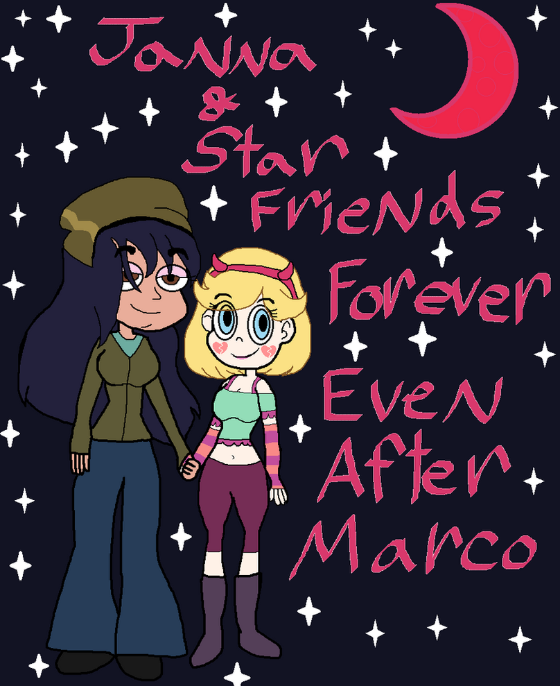 Star and Janna Friends Forever Even After Marco by Elzathehedgehog