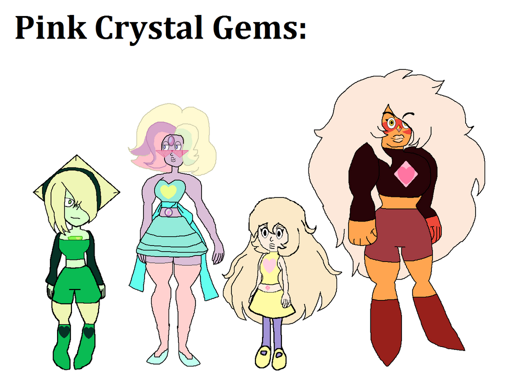 Steven Universe AU: The Pink Crystal Gems by ...