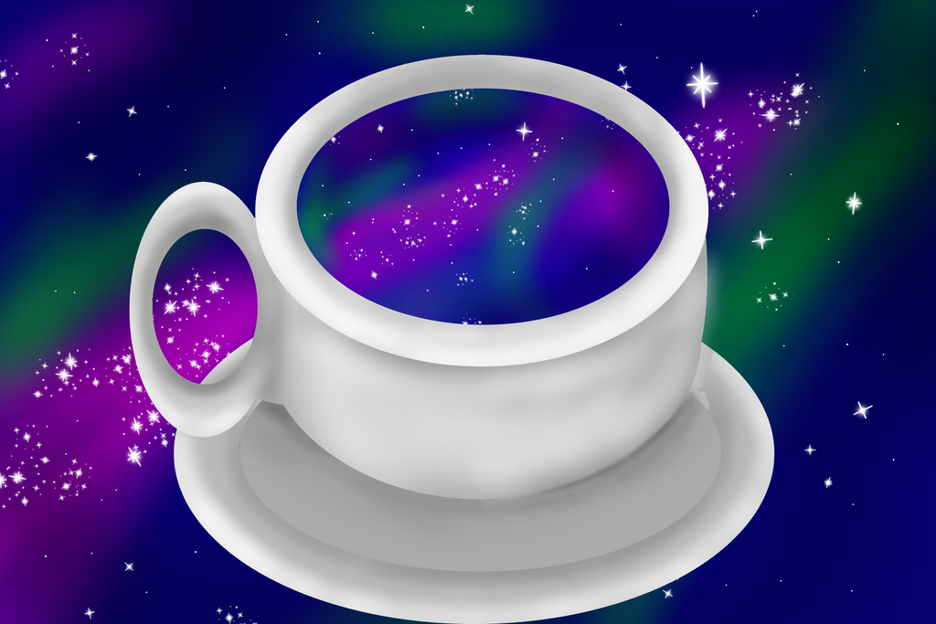 The Galaxy in a cup by SunlightMetal