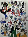 My favourite Disney Heroes and Villains by jaystation95