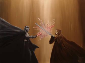 The Last Battle (Star Wars) Darth Vader Obi Wan by Withoutum