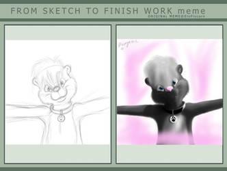 Sketch to Finish Work Meme