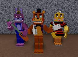 Stylized Freddy and Friends