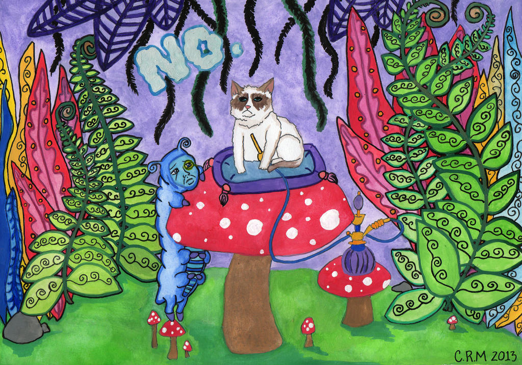 Grumpy Cat in Wonderland by Lady-Lena-LaFaye
