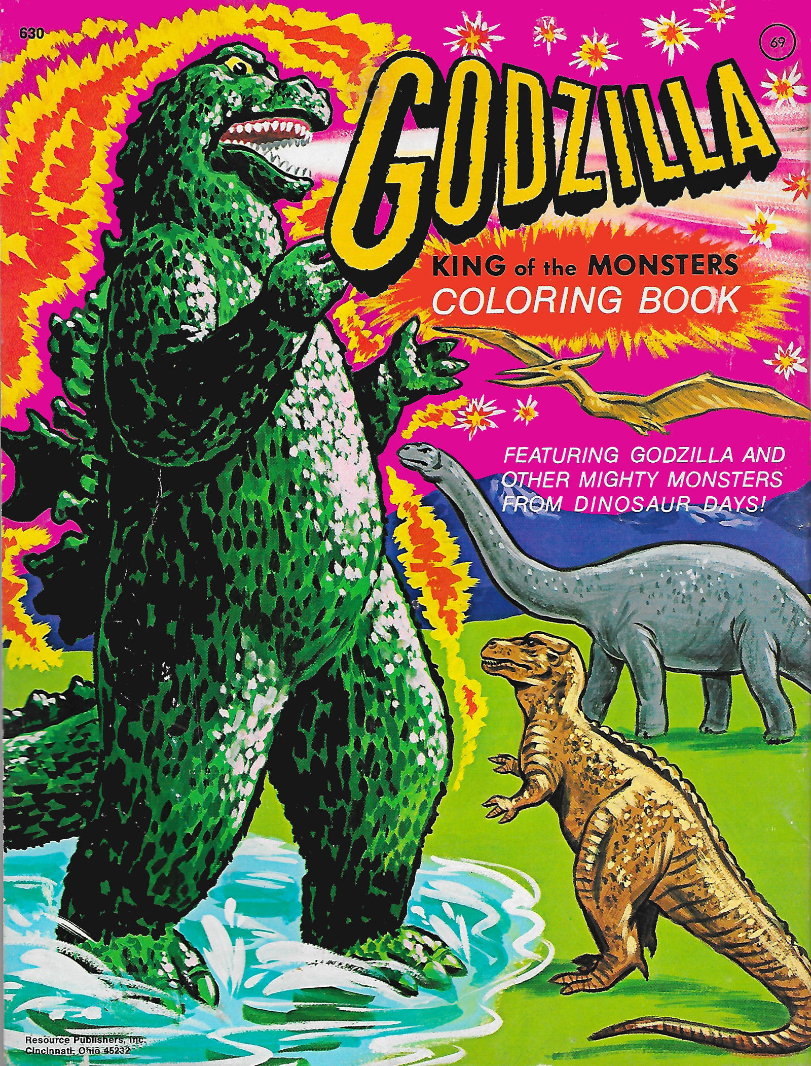 Godzilla Coloring Book 1977 by Malidicus on DeviantArt