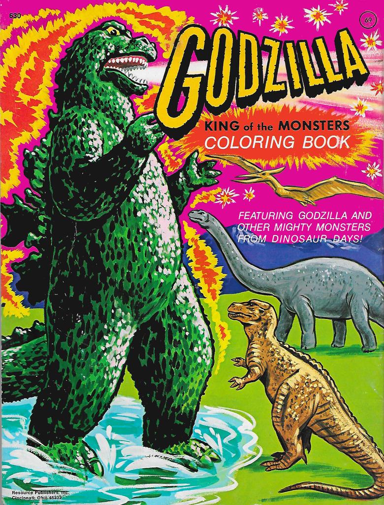 Godzilla Coloring Book 1977 by Malidicus on DeviantArt