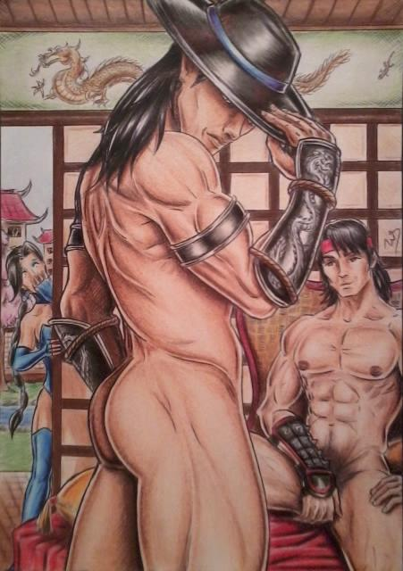 Kung Lao naked by DesertoMental