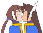Vent and Aile kiss