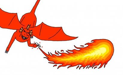 Atlas casting a Fireball Spell