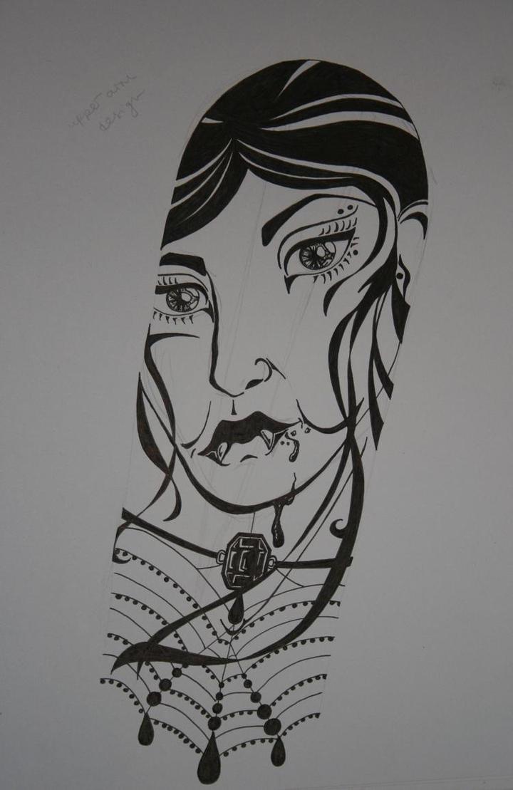 Vampire Sleeve - sleeve tattoo