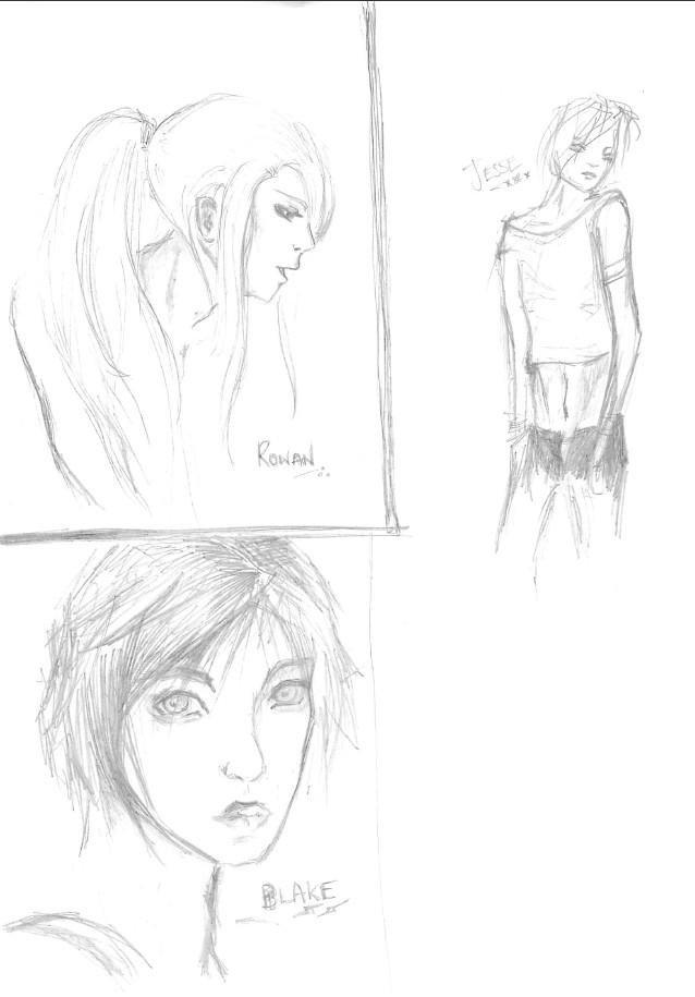 Rowan, Jesse, Blake by NatRadzi