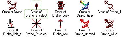 Cross of Drahcir Cursor Set by DrahcirII