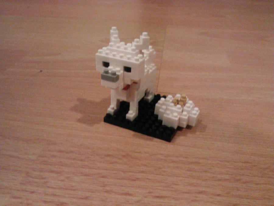 Как из лего сделать волка из 556