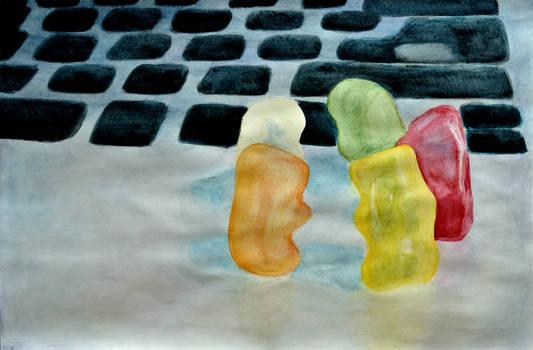 Gummybears Watercolor