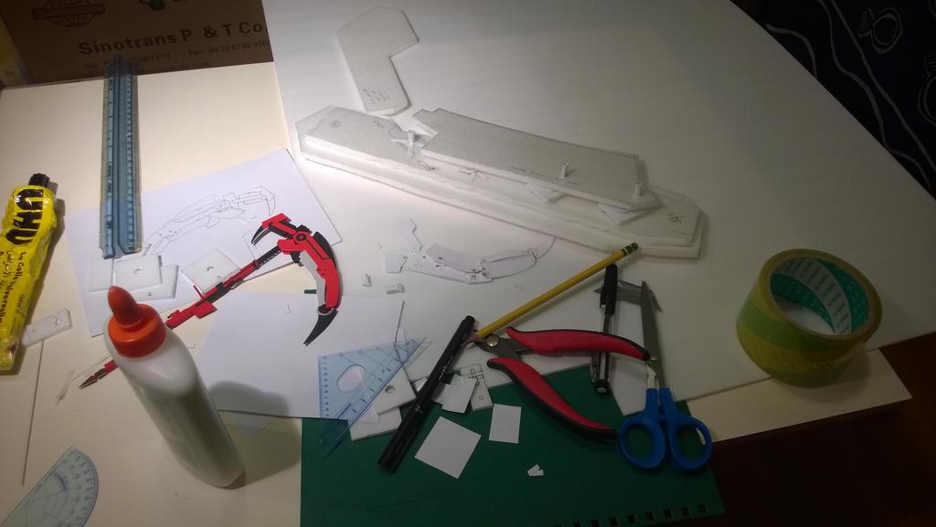 Transforming Crescent Rose Prototype Progress 01 by geek96boolean10