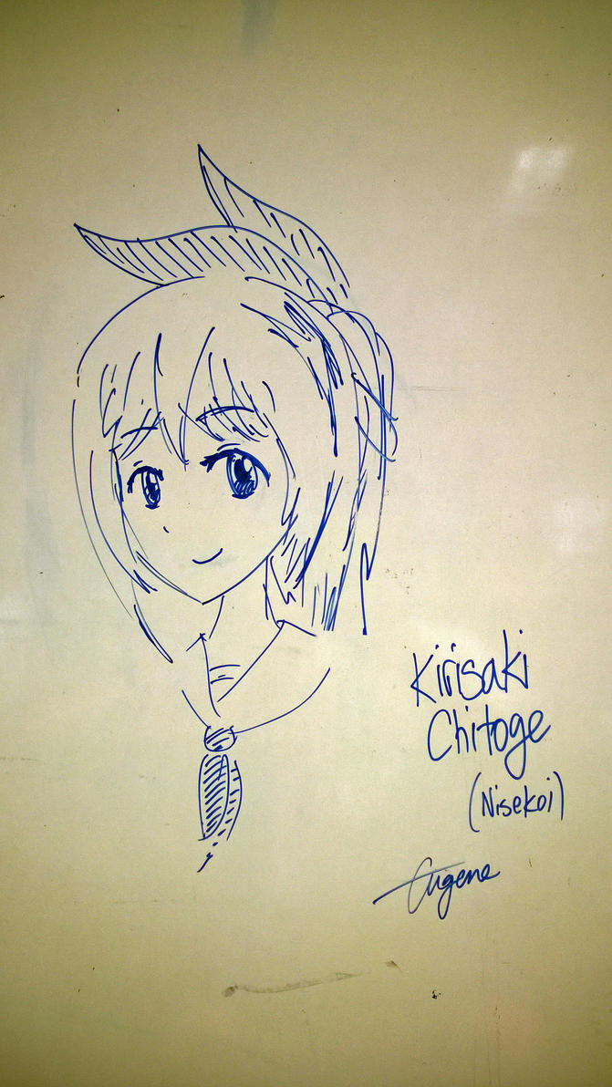 Whiteboard Series: Chitoge by geek96boolean10